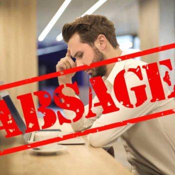 Blogbeitrag Absagen
