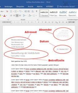 Blogbeitrag Aufbau Anschreiben
