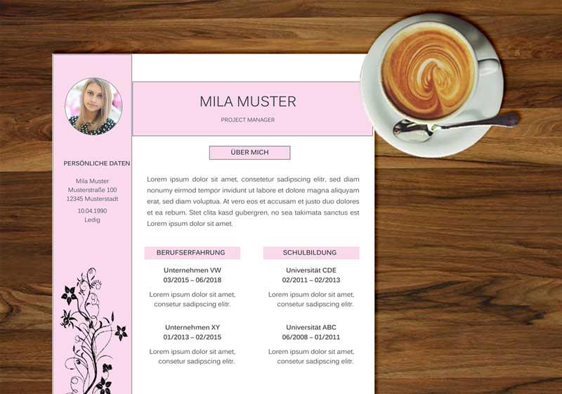 Blogbeitrag Bewerbunsdesign Muster